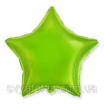 """Фольгированный шар звезда лайм 18"""" 301500VEL Flexmetal"""