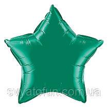 """Фольгированный шар звезда зеленый 18"""" 301500VE Flexmetal"""