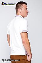 Футболка мужская молочная с вышивкой Алекс, фото 3
