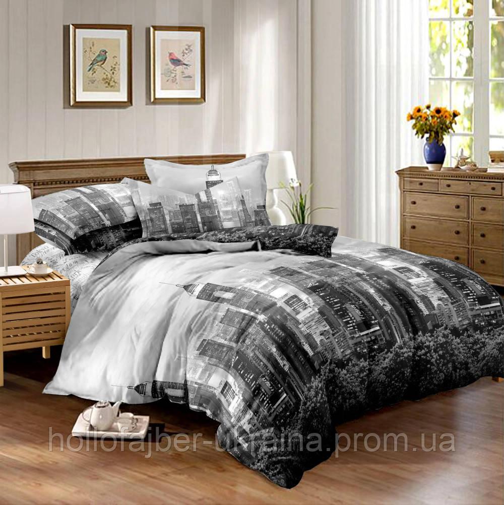 Двуспальный комплект постельного белья евро 200*220 сатин (10604) TM КРИСПОЛ Украина