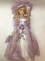 Декоративная кукла, коллекционная, фарфоровая, сувенирная 45 см 09