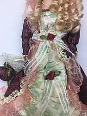Інтер'єрна сувенірна лялька, фарфоровий, колекційна 45 см 09 А, фото 2