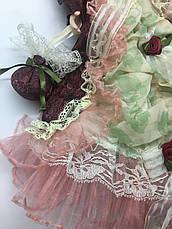 Інтер'єрна сувенірна лялька, фарфоровий, колекційна 45 см 09 А, фото 3