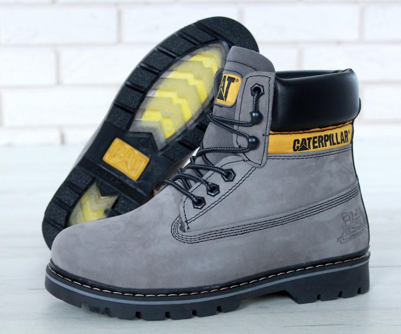 Мужские зимние ботинки Caterpillar Colorado Fur Grey, мужские ботинки. ТОП Реплика ААА класса.
