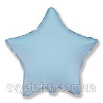 """Фольгированный шар звезда светло-голубой 18"""" 301500AB Flexmetal"""