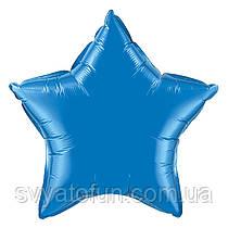 """Фольгированный шар звезда синий 18"""" 301500A Flexmetal"""