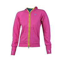 Толстовка спортивная женская adidas VRV Hood O02427 (розовая, хлопок, для тренировок и на каждый день, адидас), фото 1