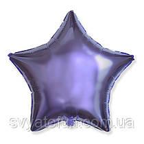 """Фольгированный шар звезда сиреневый 18"""" 301500L Flexmetal"""