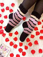 Вязанные носки шерстяные, Ручная вязка