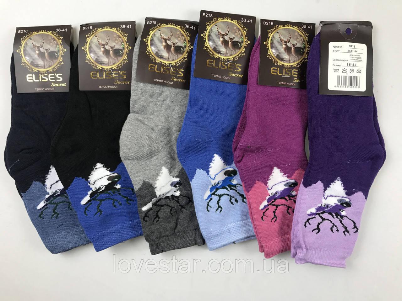 Женские махровые носки Elises хлопок Р.р 36-41