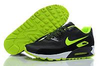 Мужские кроссовки Nike Air Max 90 Hyperfuse черные с салатовым