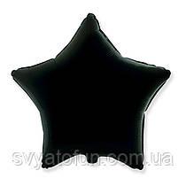 """Фольгированный шар звезда черный 18"""" 301500N Flexmetal"""