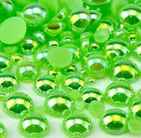Полужемчуг Light Green (зеленый) AB, 8 мм. Цена за 100 шт, фото 1