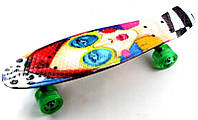 """Пенни борд, скейтборд, Penny Board """"Cool Girl"""" Светящиеся колеса."""