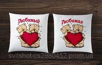 Парные подушки с мишками тедди