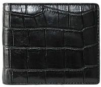 Портмоне мужской из кожи Крокодила 11х9,5 см 1006. ALM 03 EX Black, фото 1