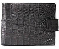 Портмоне мужской из кожи Крокодила 12,5х10 см 1002. ALM 100T Black, фото 1
