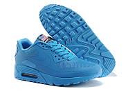 Мужские кроссовки Nike Air Max 90 Hyperfuse USA голубые, фото 1