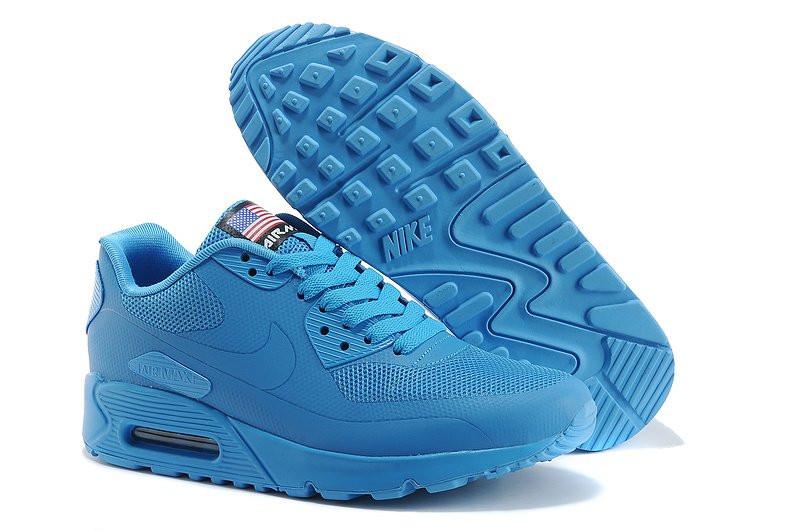 3850aa07 Мужские кроссовки Nike Air Max 90 Hyperfuse USA голубые - Обувь и одежда с  доставкой по