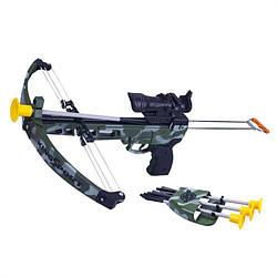 Арбалет детский спортивный с лазерным прицелом Limo Toy M 0004 Камуфляж (intM 0004)