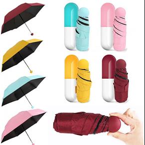 Зонтик - капсула, компактный зонт, мини зонтик в футляре, фото 2