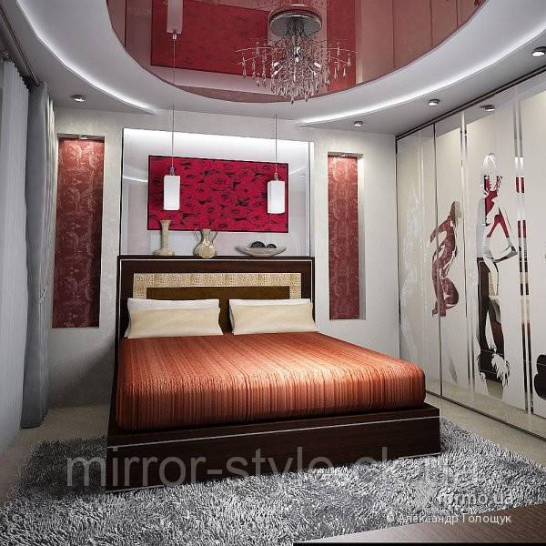Натяжні стелі в спальні