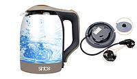 Электрический чайник стеклянный Sinbo SHB-993