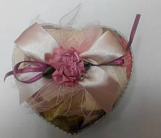 Коробка подарочная сердце ткань прованс