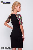 Модное женское чёрное платье Весеннее настроение, фото 3
