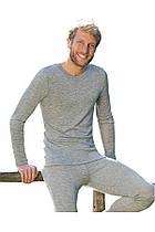 Термокофта мужская Engel из шерсти и шёлка серый меланж