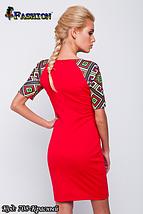 Жіноча червона сукня з вишивкою Весняний настрій, р. L, фото 3