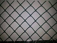 Сетка пластиковая для забора яч.30*30мм, ромб 1,5м*25м (зеленый, черный)