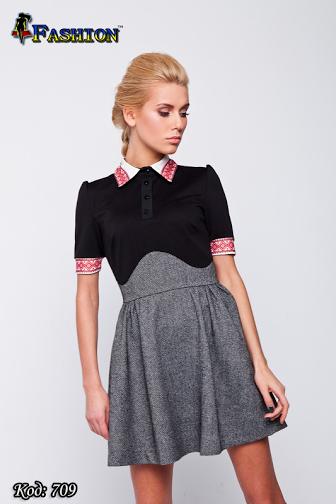Женское платье с вышивкой Ностальгия