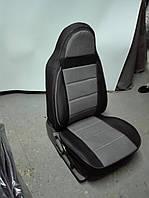 Чехлы на сиденья Ниссан Альмера Классик (Nissan Almera Classic) (модельные, экокожа+автоткань, отдельный подголовник)