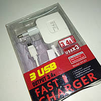 СЗУ Fast Chargen XY-01 3USB 3.4A