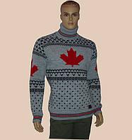 Мужской свитер с высоким двойным воротником