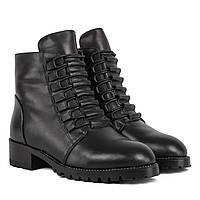 Ботинки женские My Classic (кожаные, удобные, стильные, на шнурках) 35