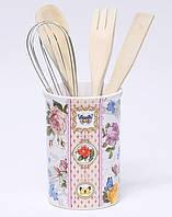 Подставка-стакан Bona Лето в Европе для кухонных инструментов 5 предметов (BD-DU959-S_psg)