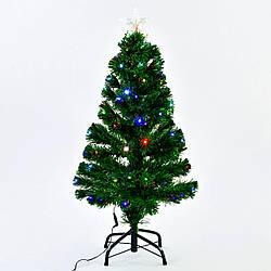 Искусственная елка с подсветкой 90 см 80 веток Зеленый (29333)