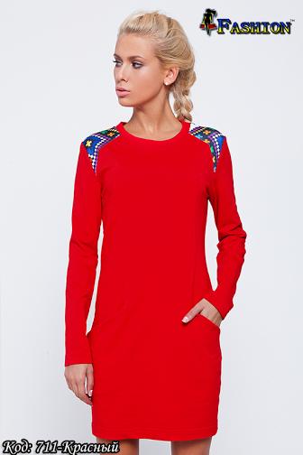 Жіноча червона вишита сукня Захват