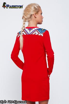 Жіноча червона вишита сукня Захват, фото 2