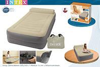 Надувная кровать Intex Take Along Bed Twin 67776 , с внешним насосом  (99-191-47см)