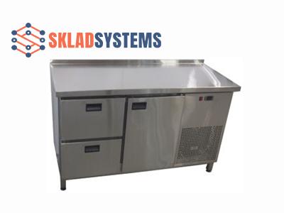 Холодильный стол 1 дверь + 2 ящика. (1400х600х850)