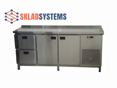 Холодильный стол 2 двери + 2 ящика (1400х600х850)