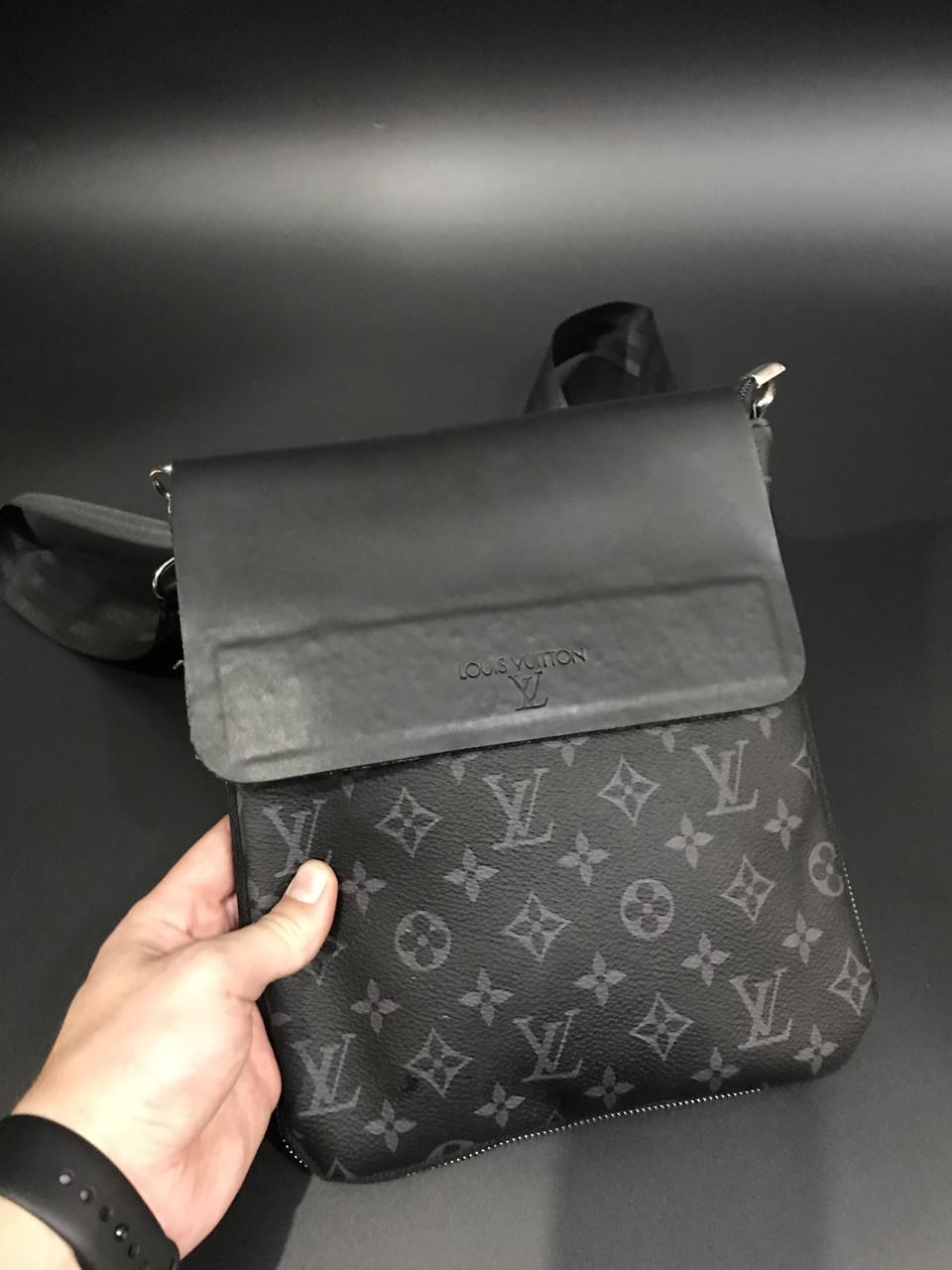 d57144563f5c Сумка мужская через плечо брендовая Louis Vuitton Monogram черная копия  высокого качества - AMARKET - Интернет