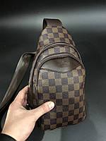 Сумка мужская через плечо слинг брендовый Louis Vuitton копия высокого качества