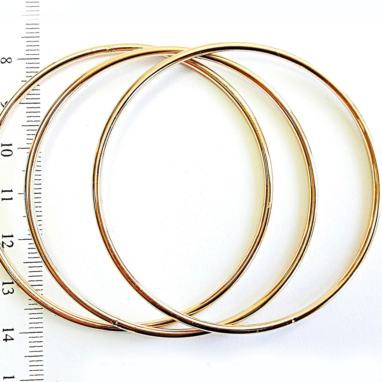 Браслеты кольца 3шт 6см позолота 18к xuping 1319