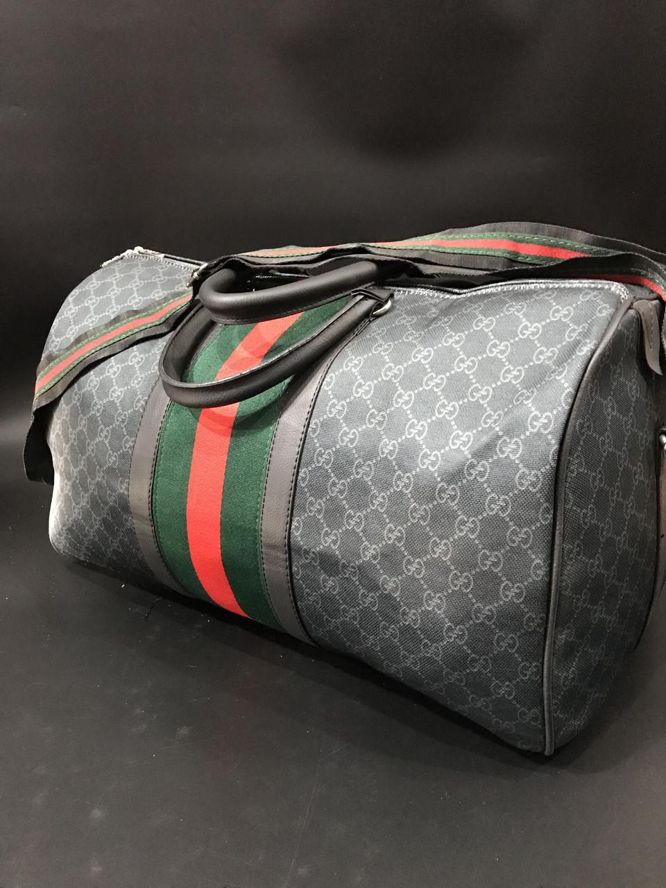 a7da614e0c8e Сумка дорожная ручная кладь саквояж спорт для путешествий Gucci копия  реплика