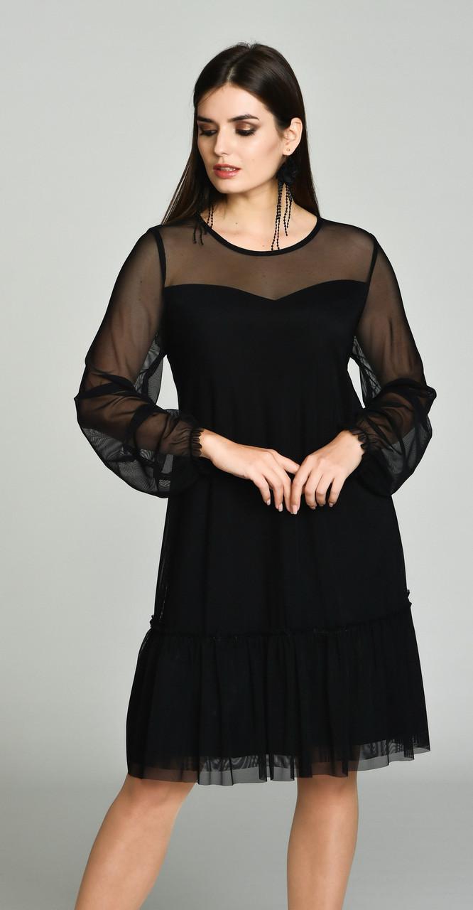 Платье Svetlana Style-1050 белорусский трикотаж, черный, 46