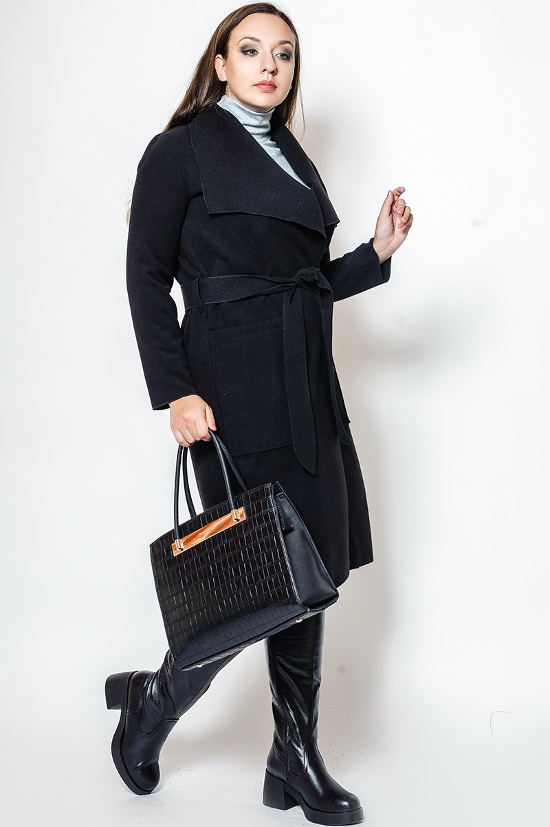 Чорне батальне пальто Барселона